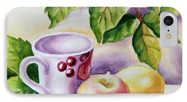 Still Life With Cup And Fruits IPhone Case by Inese Poga