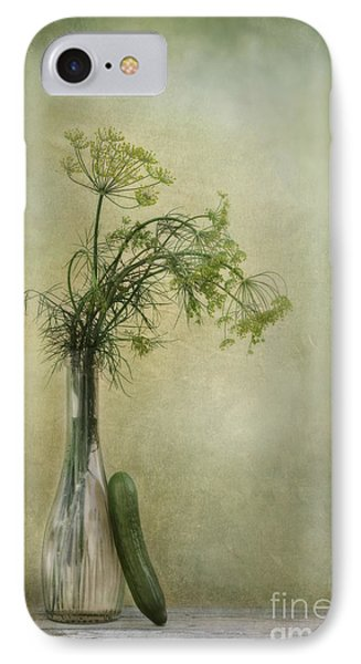 Still Life With Dill And A Cucumber IPhone Case by Priska Wettstein