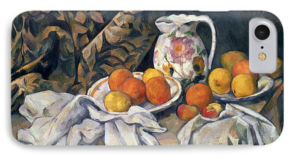 Still Life With Drapery Phone Case by Paul Cezanne
