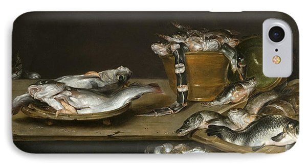 Still Life With Fish Oysters And A Cat IPhone Case