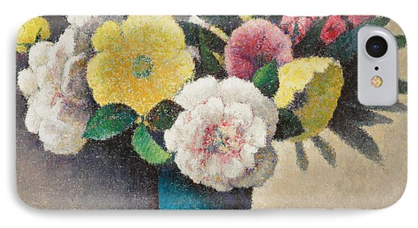 Still Life With Flowers IPhone Case by Felix Elie Tobeen