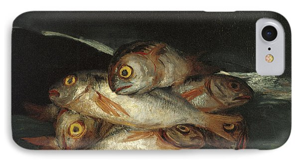 Still Life With Golden Bream Phone Case by Francisco De Goya