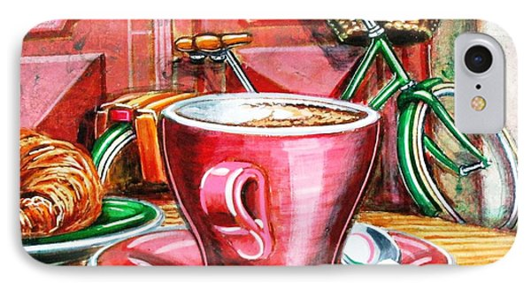IPhone Case featuring the painting Still Life With Green Dutch Bike by Mark Howard Jones