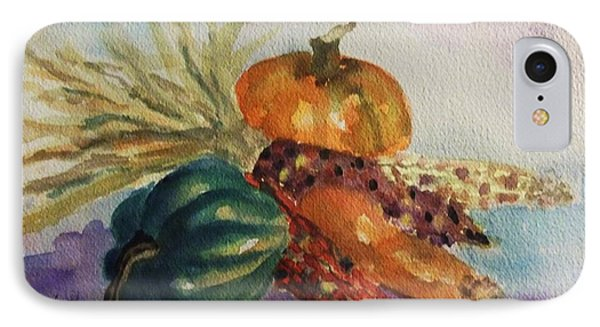 IPhone Case featuring the painting Still Life With Indian Corn by Ellen Levinson