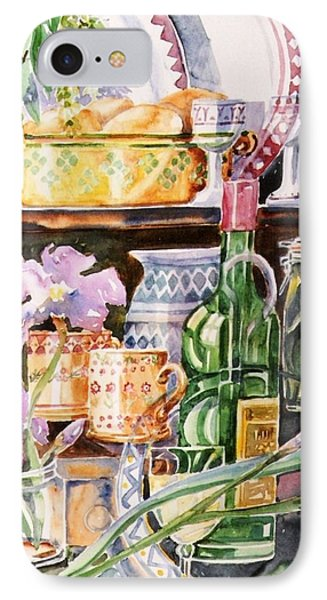 Still Life With Irises Phone Case by Trudi Doyle