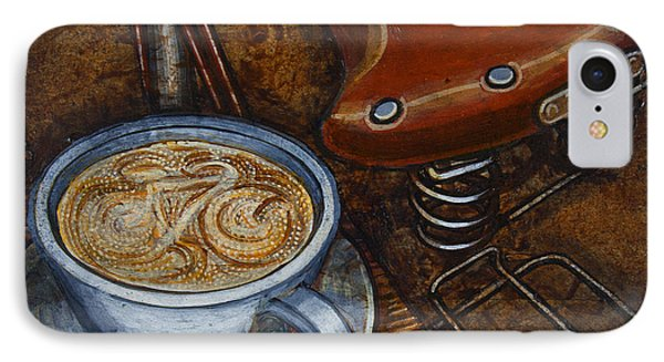 IPhone Case featuring the painting Still Life With Ladies Bike by Mark Howard Jones