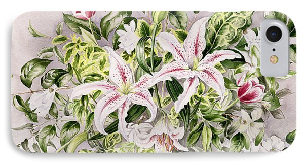 Still Life With Lilies IPhone Case by Alison Cooper