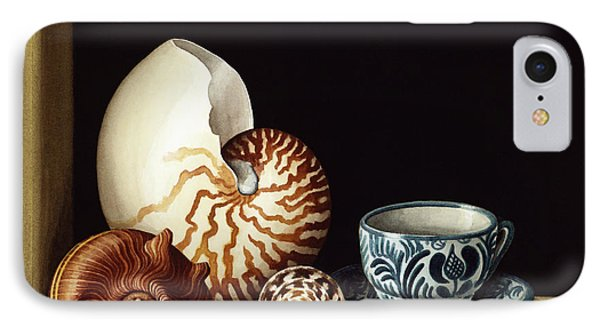 Still Life With Nautilus Phone Case by Jenny Barron