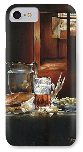 Still Life With Olives And Fish Phone Case by Victor Mordasov