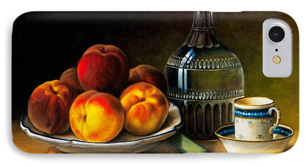 Still Life With Peaches Phone Case by Bernadette Harrison