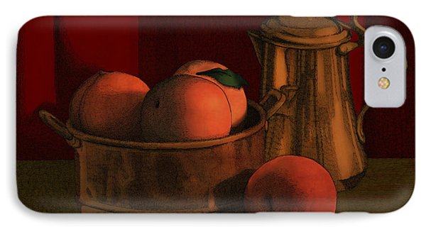 Still Life With Peaches IPhone Case by Meg Shearer