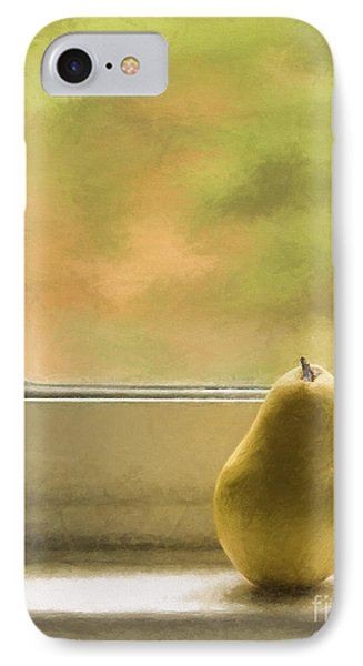 Still Life With Pear IPhone Case by Diane Diederich