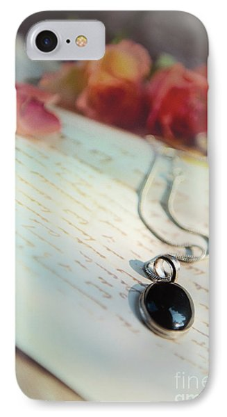 Still Life With Roses And A Black Pendant IPhone Case