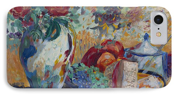 IPhone Case featuring the painting Still Life With Roses by Avonelle Kelsey