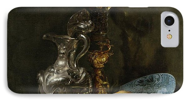 Still Life With Silver Pitcher IPhone Case by Willem Kalf