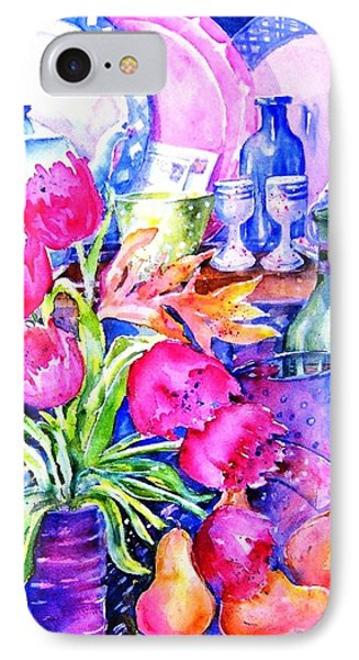 Still Life With Tulips  IPhone Case by Trudi Doyle