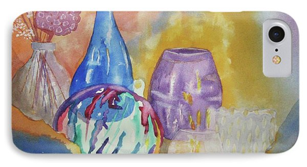 IPhone Case featuring the painting Still Life With Witching Ball by Ellen Levinson