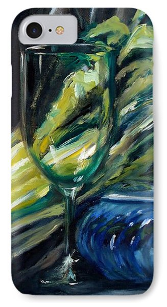 Still Life With Yellow Pepper Bok Choy Glass And Dish Phone Case by Donna Tuten