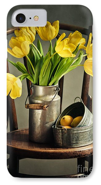 Tulip iPhone 7 Case - Still Life With Yellow Tulips by Nailia Schwarz
