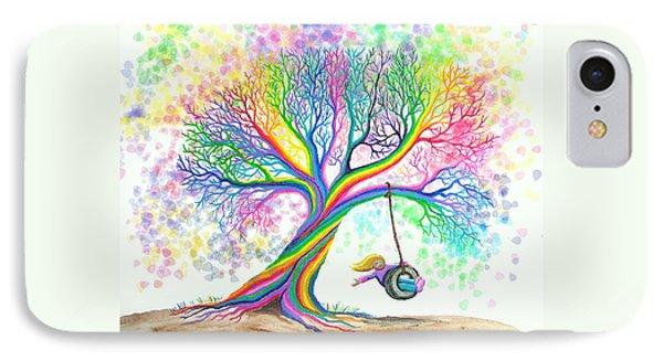 Still More Rainbow Tree Dreams Phone Case by Nick Gustafson