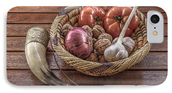 Still Life With A Georgian Horn IPhone Case by Julis Simo