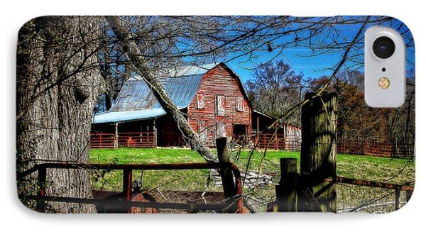 Still Useful Rustic Red Barn Art Oconee County IPhone Case