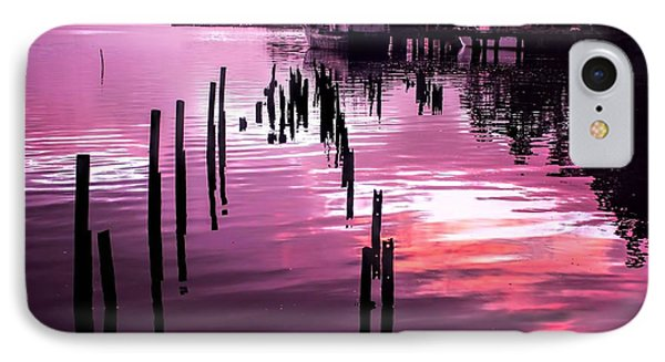 IPhone Case featuring the photograph Still Water Dusk 2 by Wallaroo Images