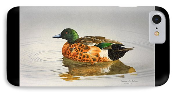 Still Waters - Chestnut Teal IPhone Case by Frances McMahon