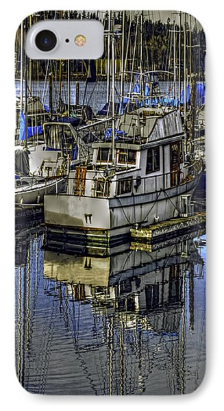 IPhone Case featuring the photograph Still Water Masts by Jean OKeeffe Macro Abundance Art