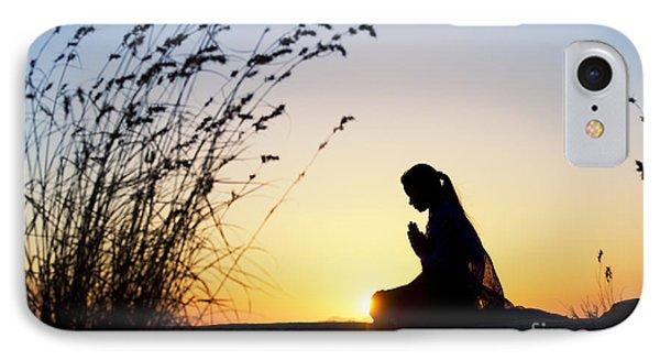 Stillness Of Prayer IPhone Case by Tim Gainey