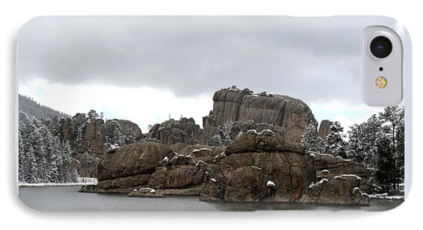 Sylvan Lake In October IPhone Case by Clarice  Lakota