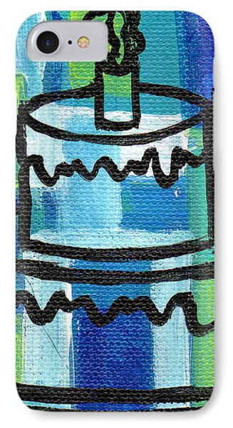 Stl250 Birthday Cake Blue And Green Small Abstract IPhone Case