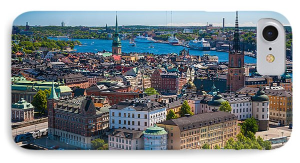 Stockholm From Above IPhone Case by Inge Johnsson