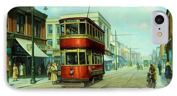 Stockport Tram. Phone Case by Mike  Jeffries