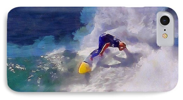Stoked Surfer IPhone Case by Dan Sproul