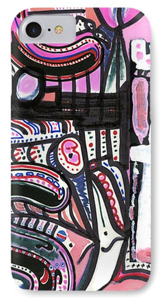 IPhone Case featuring the drawing Stomach Flu by Don Koester