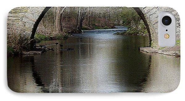 Stone Arch Bridge - Craquelure Texture IPhone Case