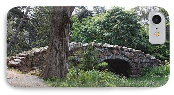Stone Bridge At Stow Lake IPhone Case by Susan Alvaro