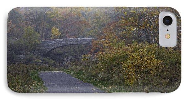 Stone Bridge In Autumn 3 IPhone Case