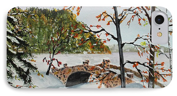 IPhone Case featuring the painting Stone Bridge by Jack G  Brauer