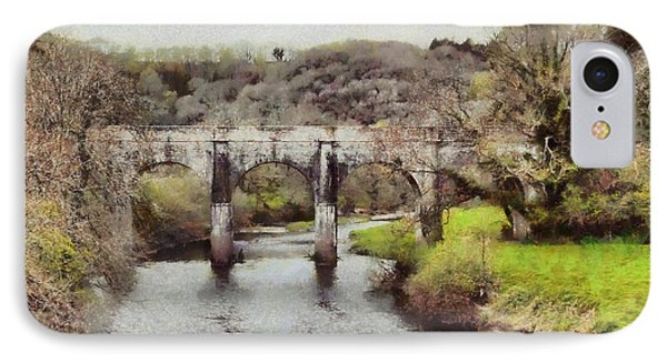 IPhone Case featuring the digital art Stone Bridge by Kai Saarto