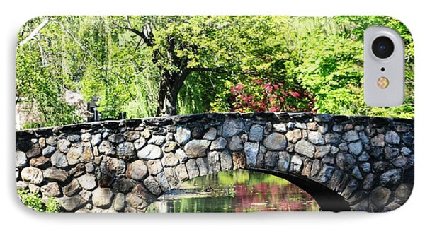 IPhone Case featuring the photograph Stone Bridge Reflection by Judy Palkimas