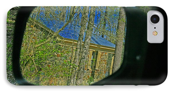 IPhone Case featuring the photograph Stone Cabin Reflection by Andy Lawless