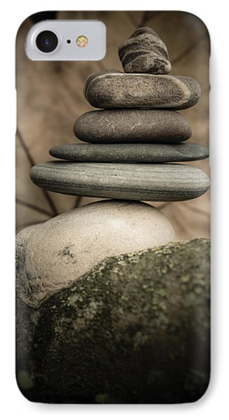 Stone Cairns Iv IPhone Case by Marco Oliveira
