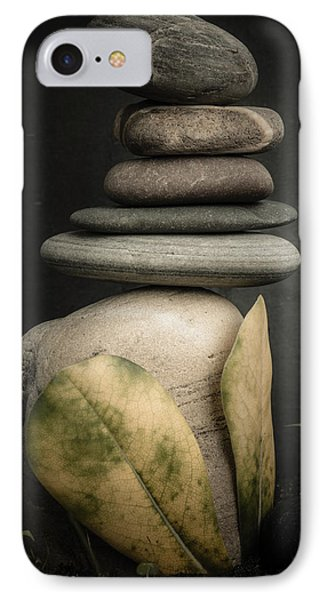 Stone Cairns V IPhone Case by Marco Oliveira