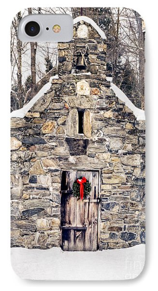 Stone Chapel In The Woods Trapp Family Lodge Stowe Vermont Phone Case by Edward Fielding