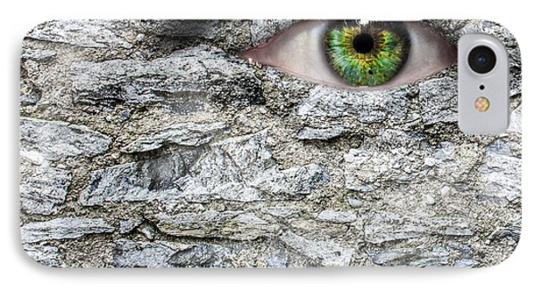 Stone Face IPhone 7 Case by Semmick Photo