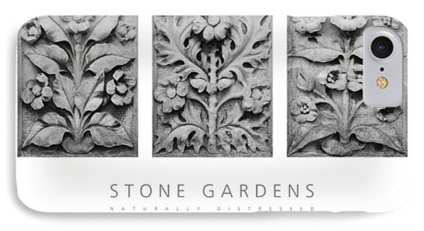 IPhone Case featuring the digital art Stone Gardens 1 Naturally Distressed Poster by David Davies