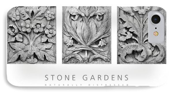 IPhone Case featuring the digital art Stone Gardens 2 Naturally Distressed Poster by David Davies