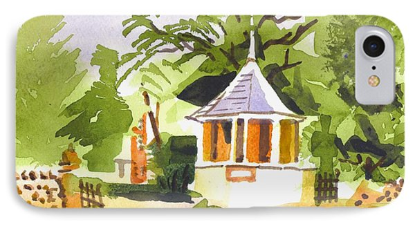 Stone Gazebo At The Maples IPhone Case by Kip DeVore